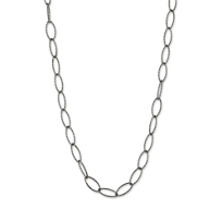 Sterling_Silver_and_Ruthenium_Open_Marquise_Link_Necklace,_18""