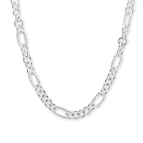 Sterling_Silver_Twisted_Oval_and_Circle_Link_Necklace,_18""