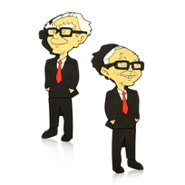 Berk: Berkshire Hathaway Warren Buffett and Charlie Munger USB Port