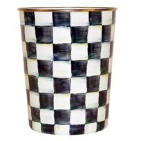 courtly check: Mackenzie Childs Courtly Check Waste Basket