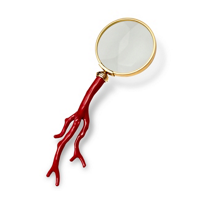 "L'objet_Coral_Magnifying_Glass,_8.5""_"