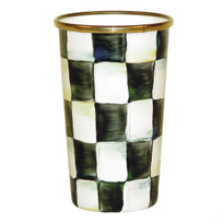 courtly check: MacKenzie-Childs Courtly Check Enamel Tumbler