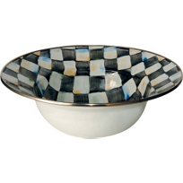 courtly check: MacKenzie-Childs Courtly Check Enamel Serving Bowl