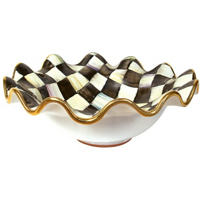 courtly check: Mackenzie-Childs Courtly Check Medium Serving Bowl