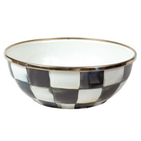 courtly check: Mackenzie Childs Courtly Check Enamel Bowl