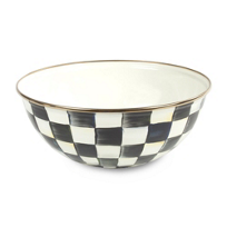 courtly check: MacKenzie Childs Courtly Check Everyday Bowl Medium