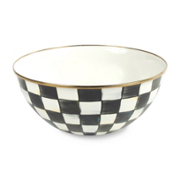 courtly check: MacKenzie Childs Courtly Check Everyday Bowl Large
