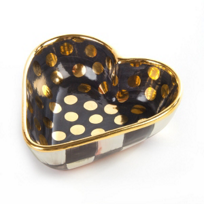courtly check: MacKenzie Childs Courtly Check Heart Bowl Small