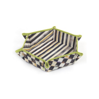 courtly check: MacKenzie Childs Courtly Check Bun Basket