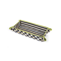 courtly check: MacKenzie Childs Courtly Check Baguette Basket