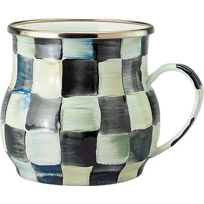 courtly check: MacKenzie-Childs Courtly Checked Enamel Mug