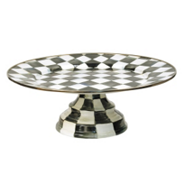 courtly check: MacKenzie-Childs Courtly Check Enamel Pedestal Platter