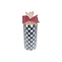 courtly check: MacKenzie-Childs Courtly Check Pillar Candle