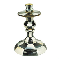 courtly check: MacKenzie-Childs Courtly Check Small Candlestick