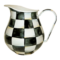 courtly check: MacKenzie-Childs Courtly Check Enamel Pitcher