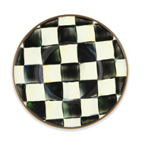 courtly check: MacKenzie-Childs Courtly Check Enamel Saucer