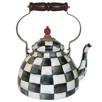 courtly check: MacKenzie-Childs Courtly Check Tea Kettle, 3Q