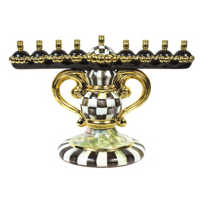 courtly check: Mackenzie Childs Courtly Check Menorah
