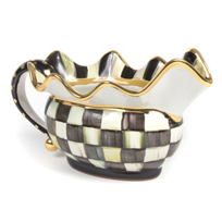 courtly check: MacKenzie Childs Courtly Check Sauce Boat