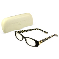 courtly check: Mackenzie Childs Courtly Check Black Reading Glasses