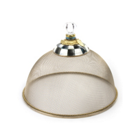 courtly check: MacKenzie Childs Courtly Check Small Mesh Dome
