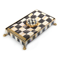 courtly check: MacKenzie Childs Courtly Check Napkin Holder Set Hostess