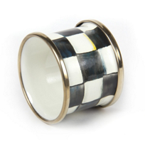 courtly check: MacKenzie-Childs Courtly Check Enamel Napkin Ring
