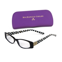 MacKenzie_Childs_Courtly_Check_Black_Reading_Glasses,_x1.5
