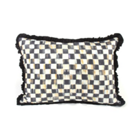 courtly check: MacKenzie Childs Courtly Check Ruffled Lumbar Pillow