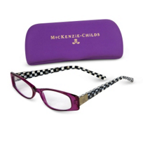 courtly check: MacKenzie Childs Courtly Check Purple Reading Glasses