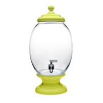 Godinger_Yellow_Porcelain_and_Glass_Beverage_Dispenser