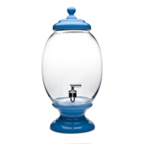 Godinger_Blue_Porcelain_and_Glass_Beverage_Dispenser