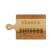 "Maple_Leaf_at_Home_Handled_Artisan_Board,_""Cheers"""