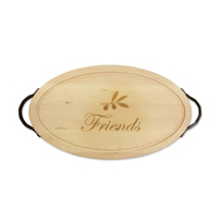 "Maple_Leaf_at_Home_Oval_Board_With_Handles,_""Friends"""