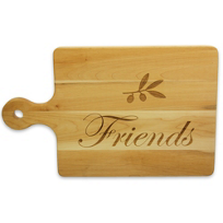 "Maple_Leaf_At_Home_""Friends""_Handled_Board,_16""_x_10"""