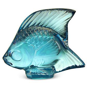"Lalique_Sculpture_Poisson_Lustre_Turquoise_Fish,_1.77""_Height"