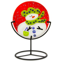 Anne_Nye_Glass_Mini_Snowman_With_Stand,_Assorted