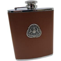 Classic_Legacy_Brown_Leather_Medallion_Flask