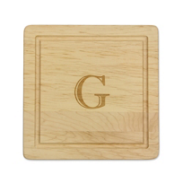 "Maple_Leaf_At_Home_""G""_Square_Board_No_Handles,_12""x12""x.75""_"