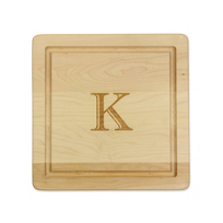 "Maple_Leaf_At_Home_""K""_Square_Board_No_Handles,_12""x12""x.75"""