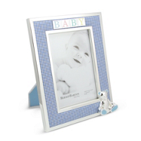 "Reed_&_Barton_Gingham_Bear_Picture_Frame,_4""_x_6"""