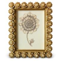 """Jay_Strongwater_Golden_Leighann_Flower_Edge_Frame,_3""""x4"""""""