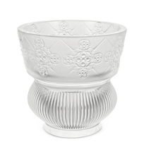 "Lalique_Clear_Rialto_Vase,_Height_4.72""_Diameter_4.72""_"