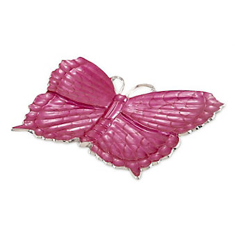 Julia_Knight_Raspberry_Butterfly_Platter,_17""
