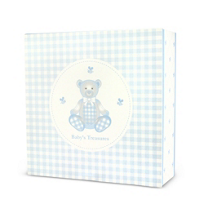 "Reed_&_Barton_Gingham_Bear_Keepsake_Box,_7_1/8""_x_7_1/8""_x_2_1/2"""