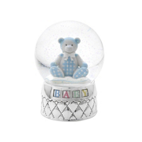 "Reed_&_Barton_Gingham_Bear_Waterglobe,_6_1/2""_H"