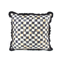 courtly check: MacKenzie Childs Courtly Check Ruffled Square Pillow