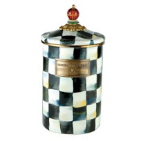 MacKenzie-Childs_Courtly_Check_Enamel_Large_Canister