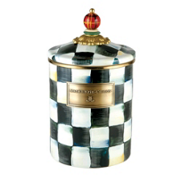 MacKenzie-Childs_Courtly_Check_Enamel_Medium_Canister