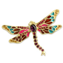 "Jay_Strongwater_Breea_Petite_Dragonfly_Pin,_2.75""_wide,_2""_tall"